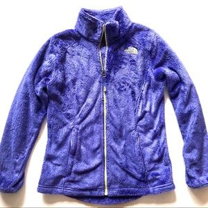 North Face Girls Osolita Purple Fleece Zip Jacket